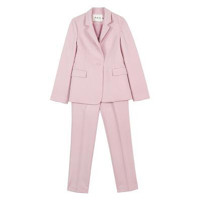 pastel jacket & pastel slacks